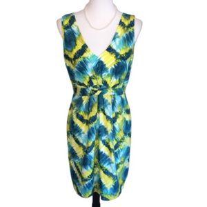 Trina Turk Abstract Print Sleeveless Silk Dress 8